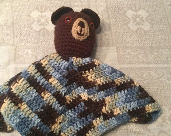 "Hand-crocheted Bear ""Lovie"""