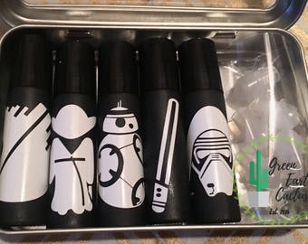 Star Wars Roller Bottles | Make & Take | Black Rollers | Labels | Party Favors | Kits |