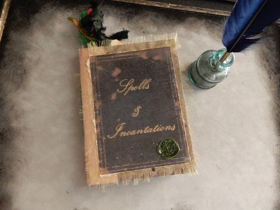 Spells and Incantations Handmade Book (Large) Handmade Spell Book, Spell  Journal, Witchcraft, Wicca, Witch Wizard, Junk Journal, Halloween