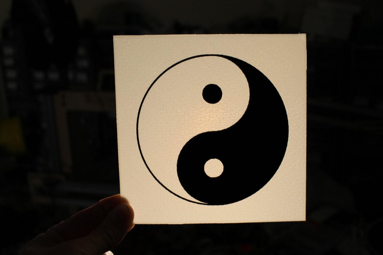 3d Printing 3d Printed Yin Yang Sign Taoism Plastic Sign Etsy