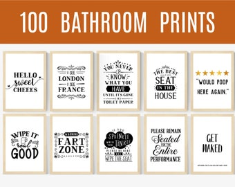 Bathroom Signs Etsy