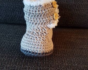 Handmade boots for a newborn baby