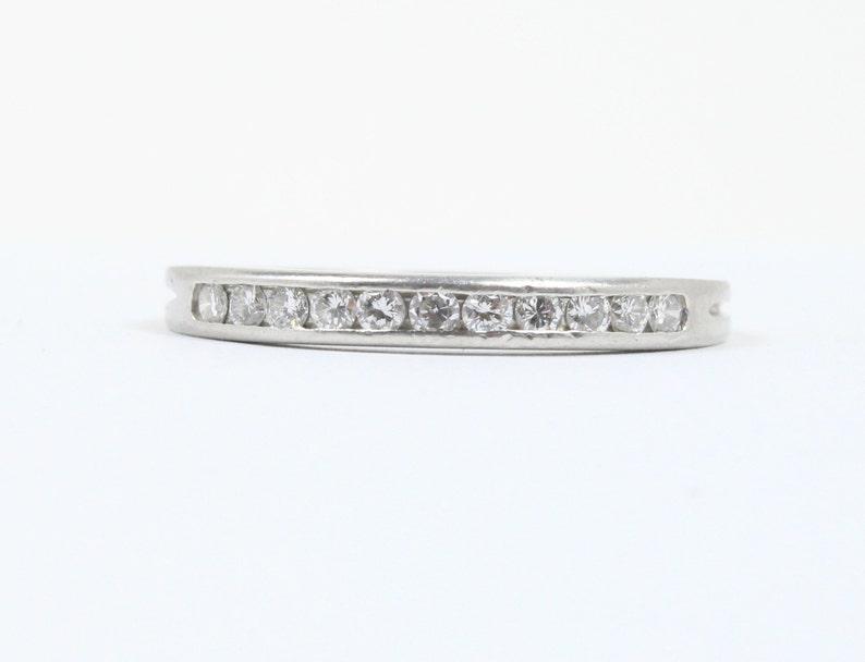 ca3ddb8de 1950s Tiffany & Co Platinum and Diamond Wedding Band Stacking   Etsy