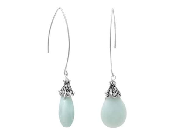 Baila Luna Mint Drop Earrings