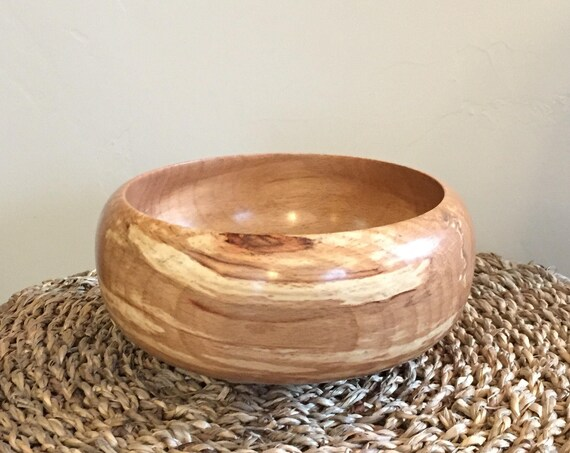 Hand Turned Beech Wood Bowl - Amazing Colors - Ring Dish - Trinket - Change - Desk Accessory