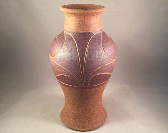 Mid Century Art Pottery Vase, Signed Studio Piece, By Artist - G. Wilson