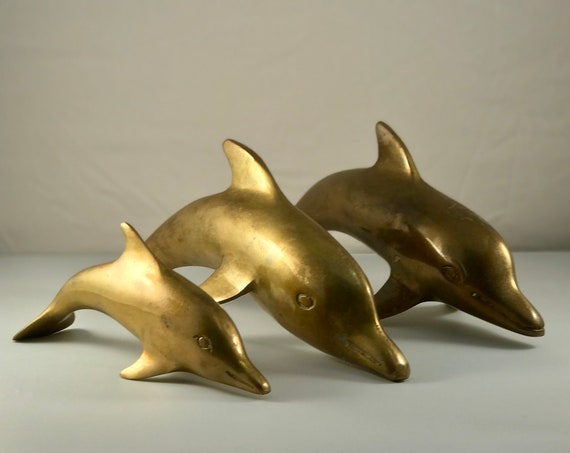 Dolphin Family - Set of 3! - Vintage 1960's Dolphin's - Dad, Mom & Baby - Mid-Century Charm!