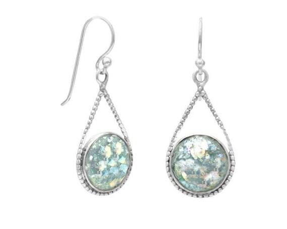 Roman Glass Drop Earrings