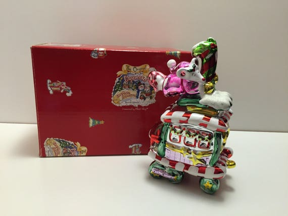 Blue Sky Clayworks Caboose Sculpture - 2004 Christmas Collection by Heather Goldmine, with original box!