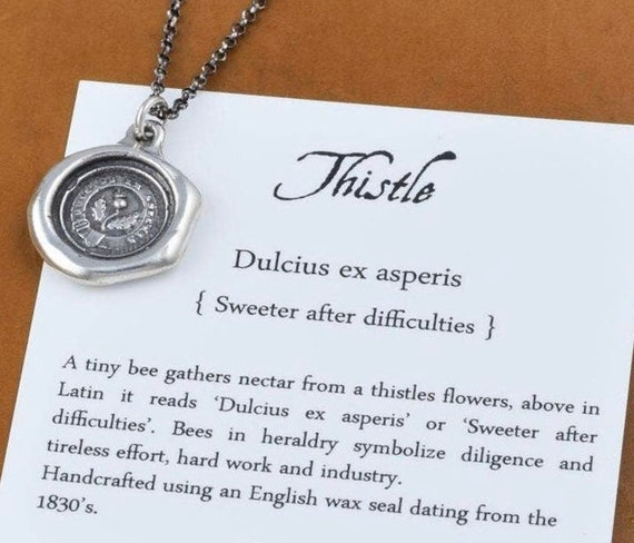 Thistle Wax Seal Crest Necklace