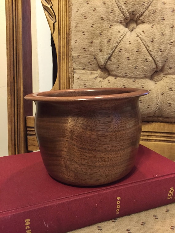 Hand Turned Black Walnut Decorative Bowl - Candy Dish - Nut Dish - Office Accessory