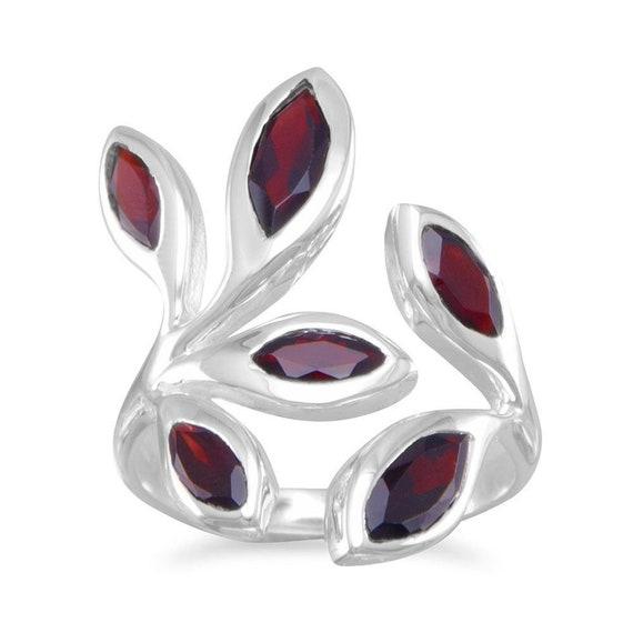 Wrap Around Garnet Ring
