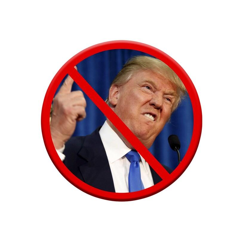 EF-BUT-00045 1.25 Diameter Anti-Trump Pinback Button
