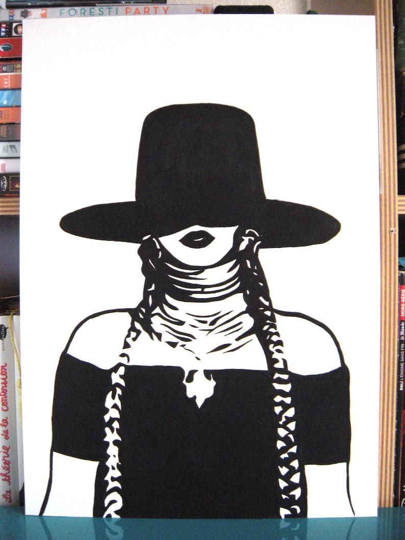 6b694ad3adc Beyonce Formation Hat portrait original painting stencil