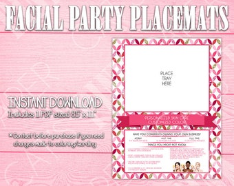 Facial Party Placemats | Circles