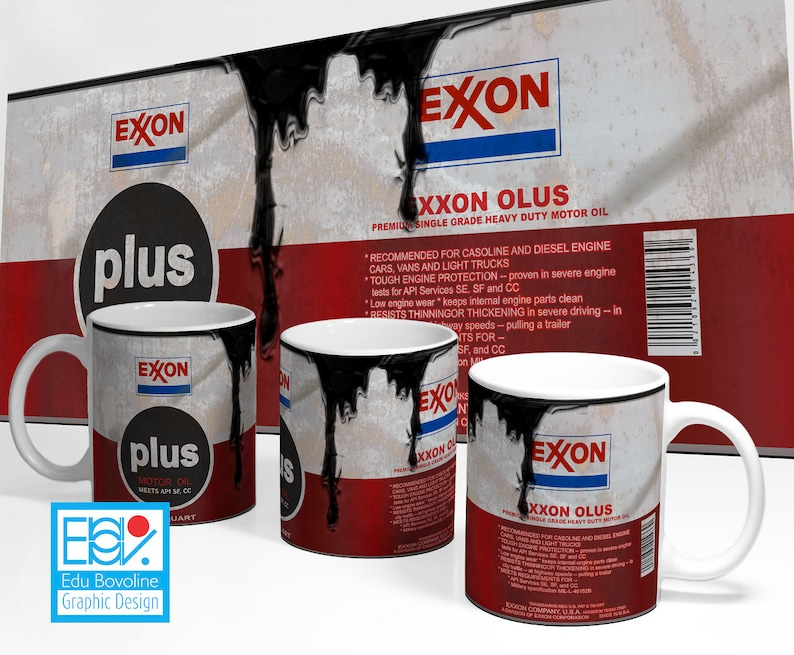 Old Oil Can Template Exxon Plus