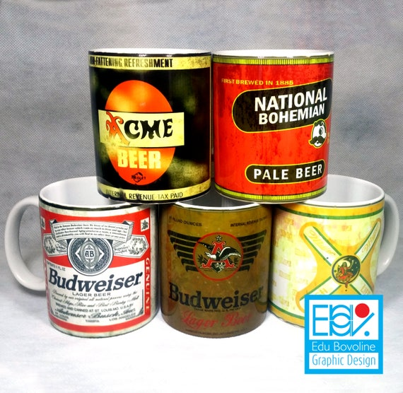 old beer cans template pack 1 5 beer cans etsy