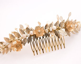 Golden Bride Hair Ornament