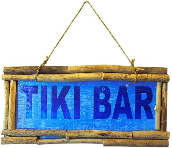 Westman Works Tiki Bar Wooden Wall Decor Sign Tropical Decoration 15 Inches Long