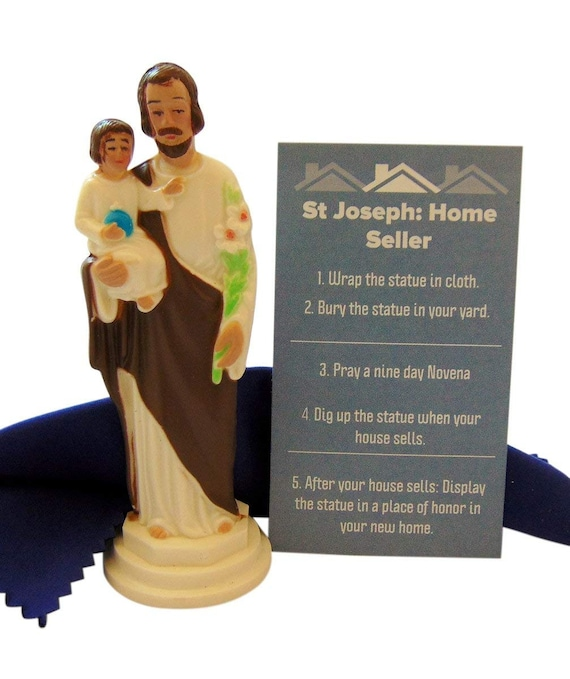 St Joseph Statue For Selling Homes Kit With Instructions And Etsy