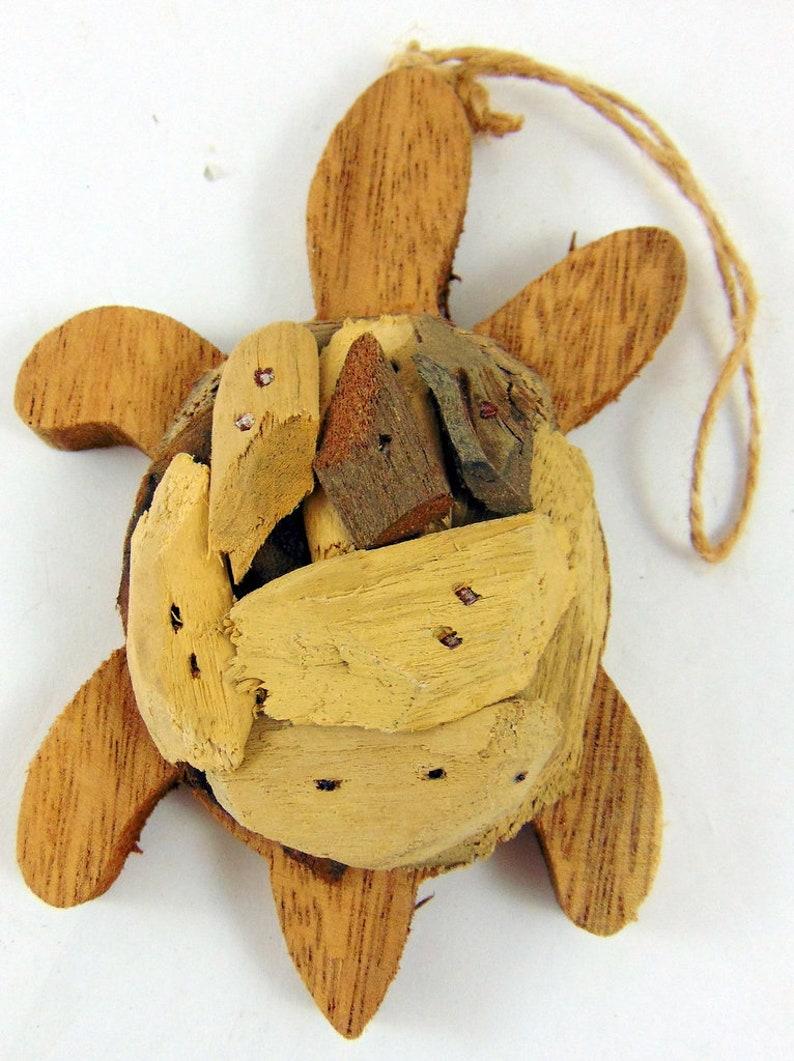 "Lot of 6 Wood Nautical Beach Life Preserver Ornaments 2 5//8/"""