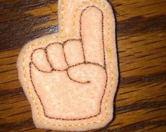 Foam finger key fob