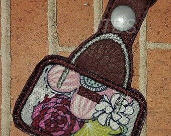 Applique purse key fob