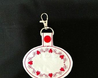 Heart oval key fob