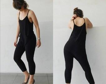 Black Jumpsuit/Baggy Jumpsuit/Minimal Jumpsuit/Jersey Jumpsuit/Woman Jumpsuit/ Girl Jumpsuit/ All season Jumpsuit/ Sexy /Black Roomper