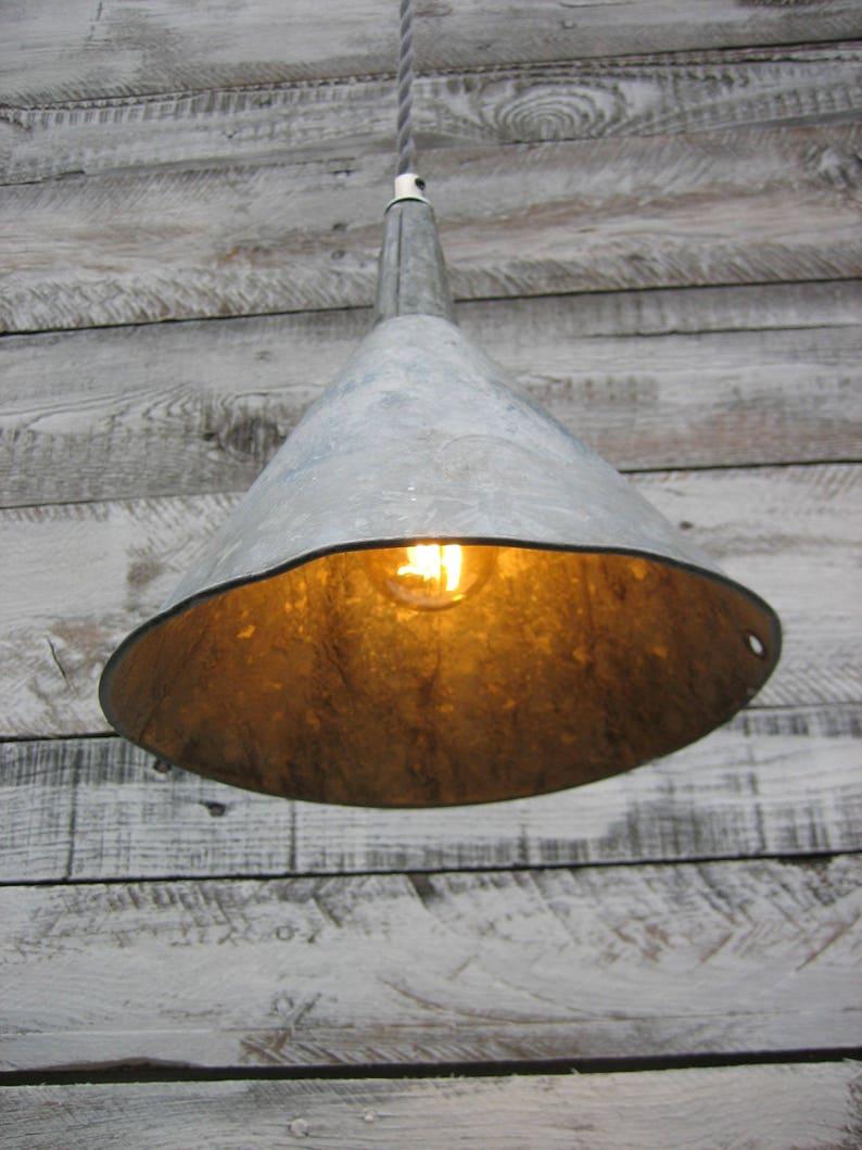 Vintage Funnel Pendant Light small