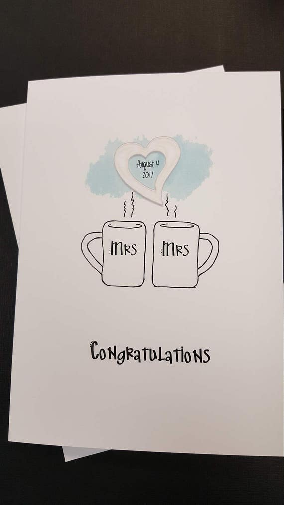 Frau Und Frau Card Hochzeitskarte Fur Lesben Paar Lesben Etsy