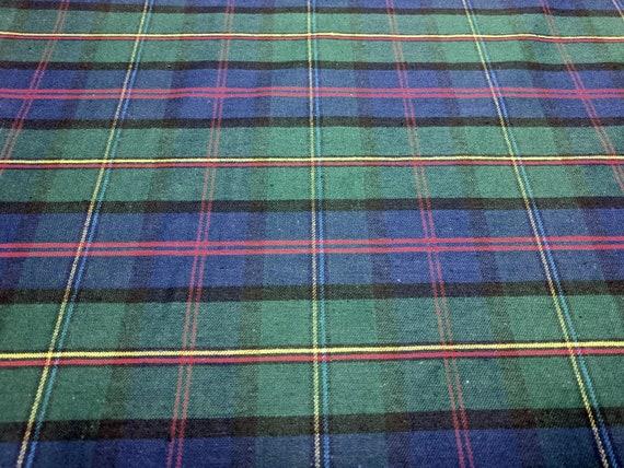 DK JEANS 100/% Cotton Denim Fabric Craft Material TARTAN CHECK
