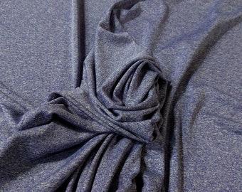 "Heather Violet Purple 4Way Stretch 60""W 12 oz Poly Lycra Made in USA Jersey Knit Fabric"