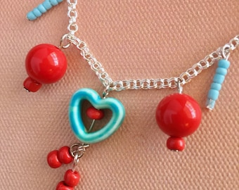 Sweet Hearts Necklace like candy for your neck