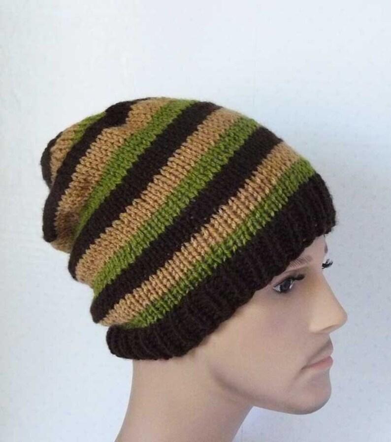 c4f052234c5 Knitting PATTERN Knit Slouchy Beanie Pattern Mens Knit