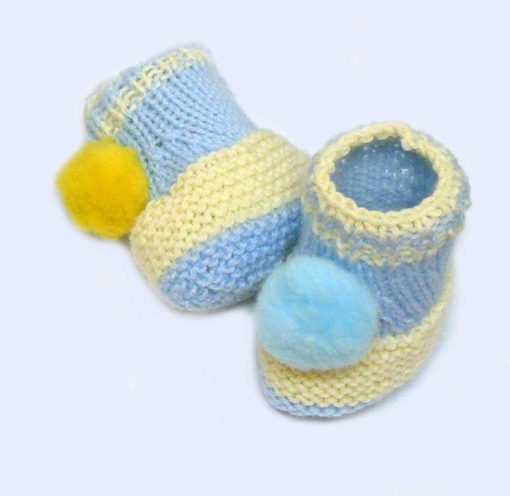 Knitting Pattern Knit Baby Booties Pattern Shoes For Baby Etsy