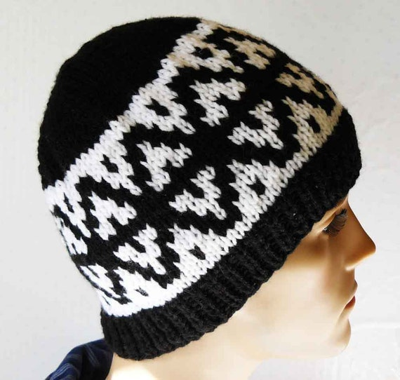 Fair Isle Knitted Hat Mens Knit Hats Knit Fair Isle Beanies  f68af71e2b3