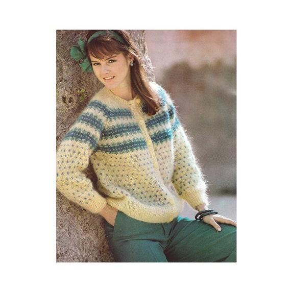 Knitting Pattern Vintage PDF Patterns Womens Fair Isle Knit | Etsy