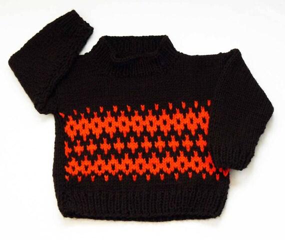32a902022 Knitting PATTERN Knit Baby Fair Isle Sweater Pattern PDF