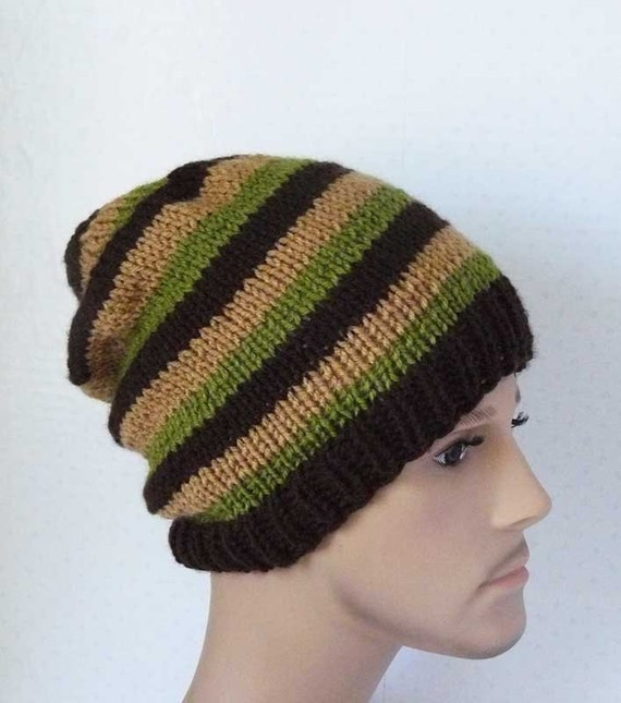Knit Slouchy Beanie Mens Slouchy Hats Knit Slouchy Hat Teen Etsy