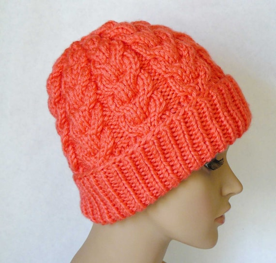 Knitted Chunky Cable Beanie Womens Cable Knit Hats Cable  1d3e8045a92