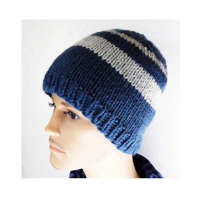 a0279137592bb Knitting PATTERN Knit Beanie Pattern Mens Knit Hat Pattern