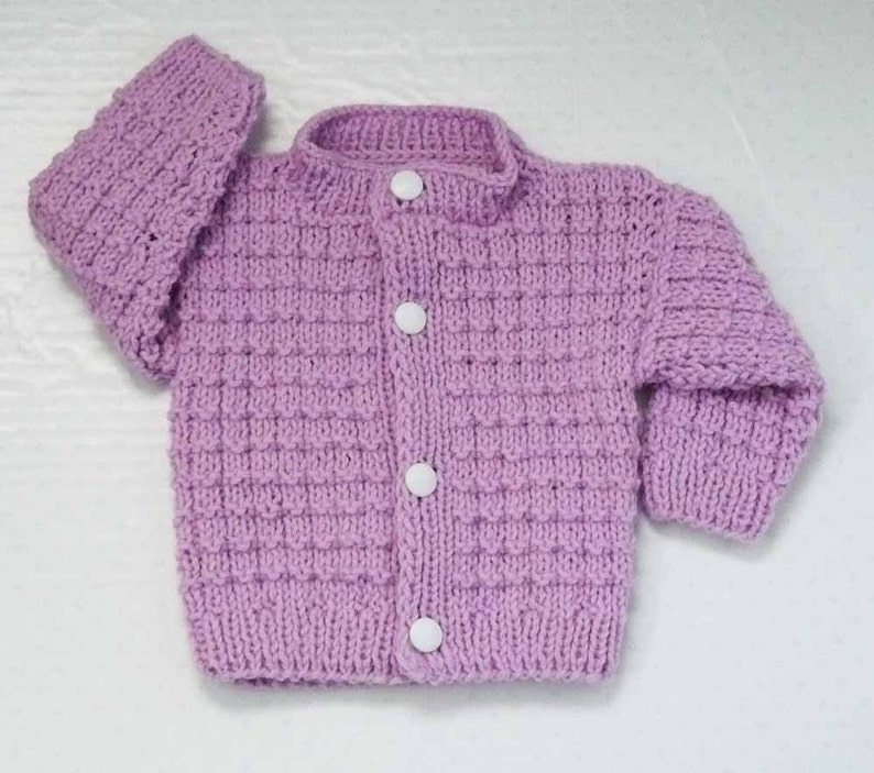 1ed5502dd Knitting PATTERN Knit Baby Cardigan Pattern PDF Knit Newborn