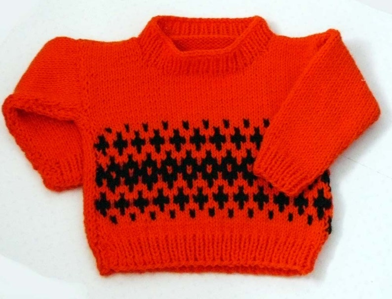 906120aa3 Fair Isle Knit Baby Sweater Baby Knitted Jumper 12 to 24