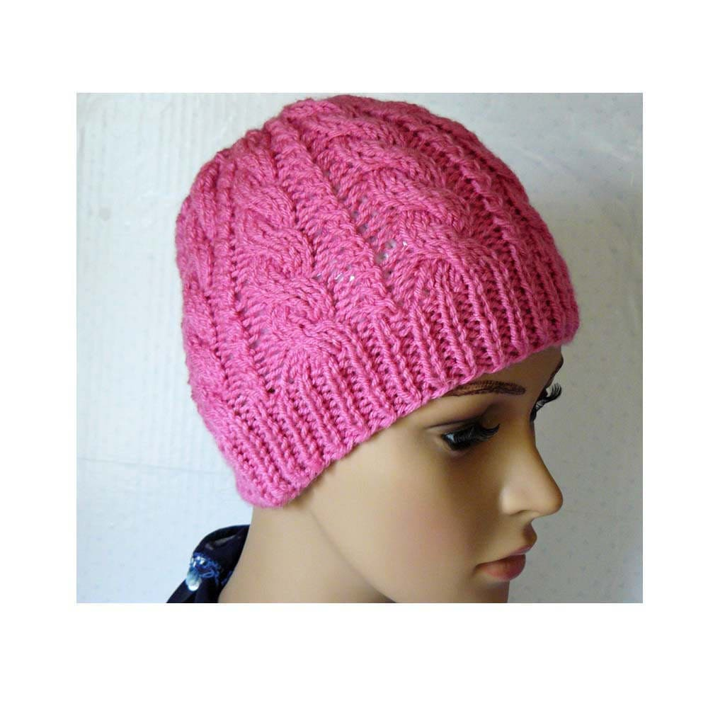 Knitting PATTERN Knitted Cable Beanie Womens Braided Knit ...