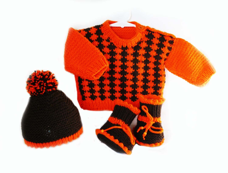 Knitting Pattern Knit Baby Sweater Hat Booties Set Pattern Etsy