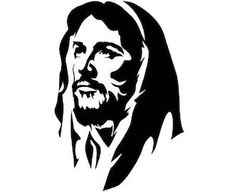Jesus Face Svg Etsy
