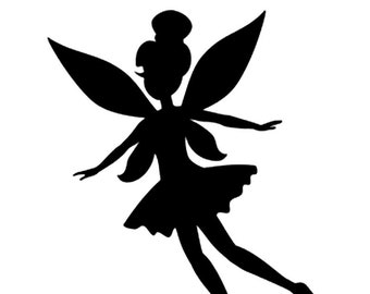 disney trilli trilly tinkerbell peter pan stencil profile 5 formats stencils digital svg dwg dxf png pdf silhouette cutting cutting files