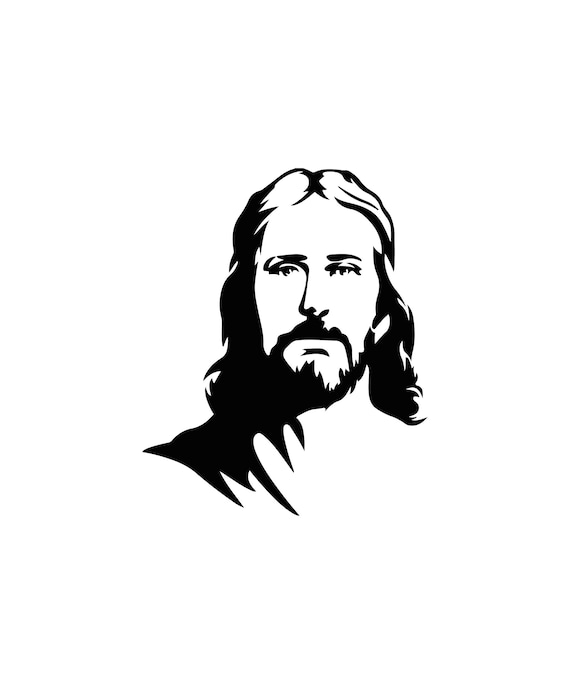Drawing Jesus Face Of Christ Vector Graphics 6 Digital Files Etsy