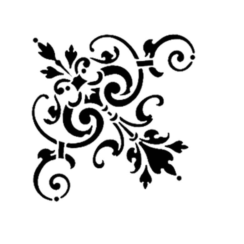 Stencil per pareti dipingere angolo decorazione art for Decorazioni adesive per mobili
